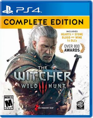 Portada del juego THE WITCHER 3 PS4