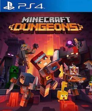 Portada del juego MINECRAFT DUNGEONS - PlayStation 4
