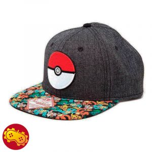 Gorra Gris Pokemon - Pokebola