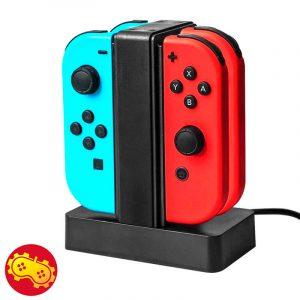 Cargador 4 en 1 para Joy-Con - Nintendo Switch